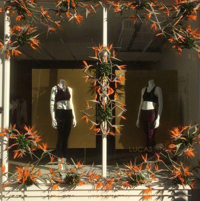 Julian Carter Design Stainless steel armature. Chelsea In Bloom. Innovation Award 2018 - Lucas Hugh. Florists - Rebel Rebel