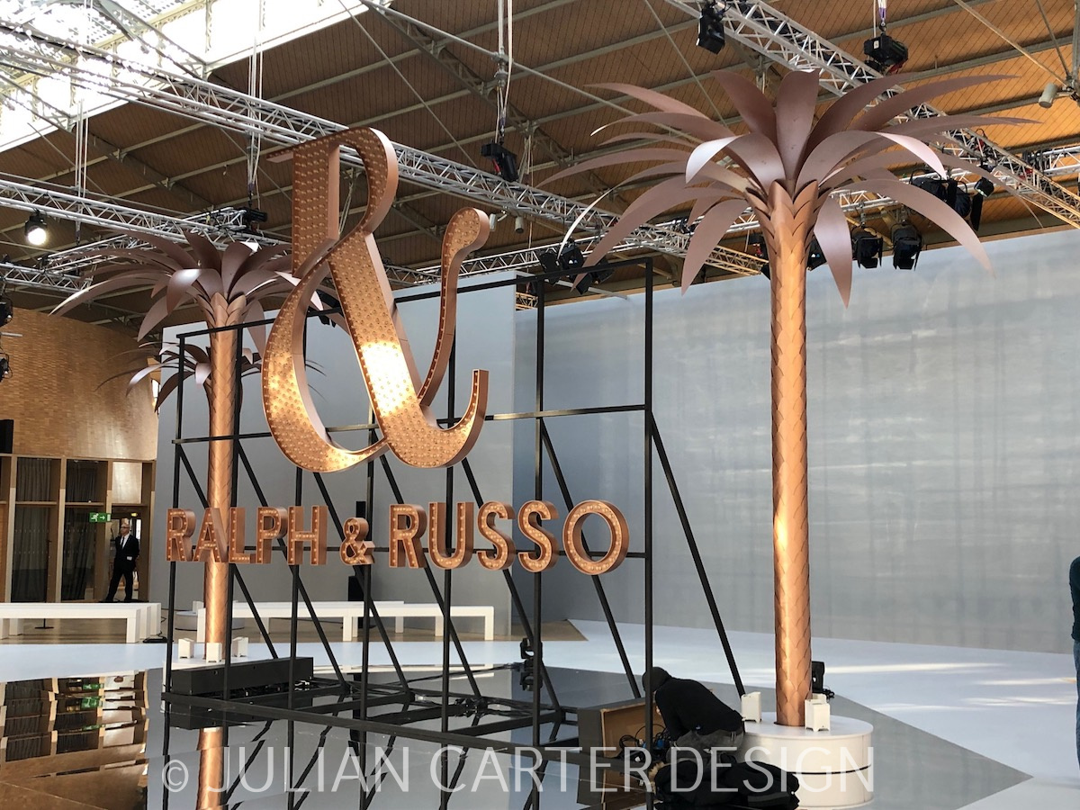 ralph russo steel and aluminium palm trees julian carter design ralph russo steel and aluminium palm