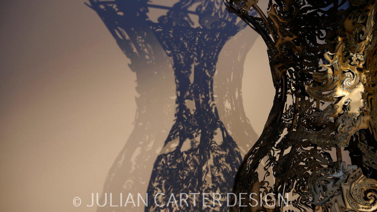 Julian Carter Design. 8' steel vase with shadow