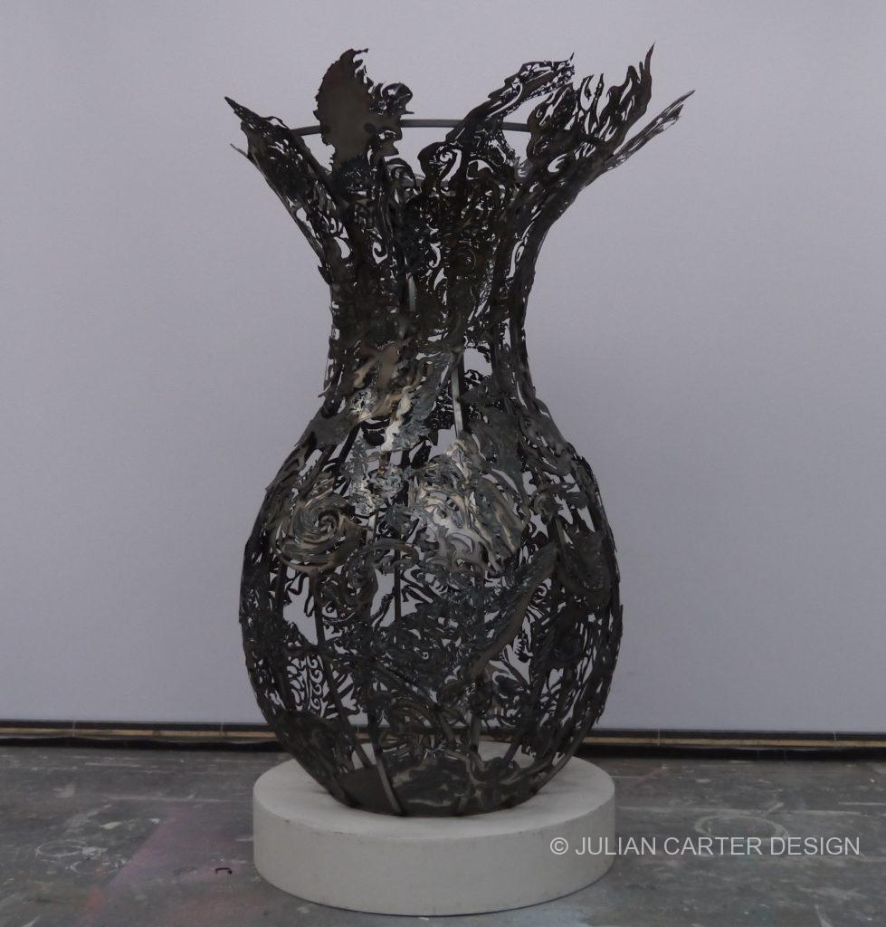 Julian Carter Design 8 foot steel vase