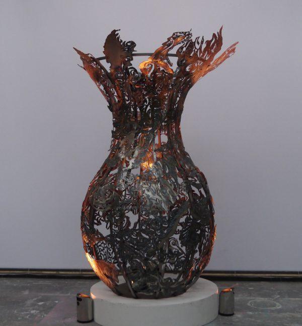 Julian Carter Design 8' Steel vase - Private collection