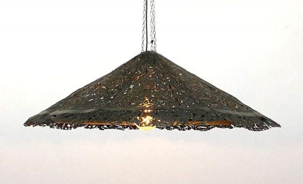 Julian Carter Design 3' diameter steel coolie shade.