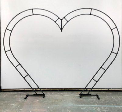 Julian Carter Design 3 metre high heart arch for Florists