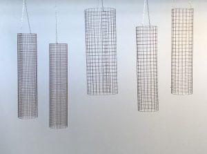 Julian Carter Design. Aerial mesh cylinders