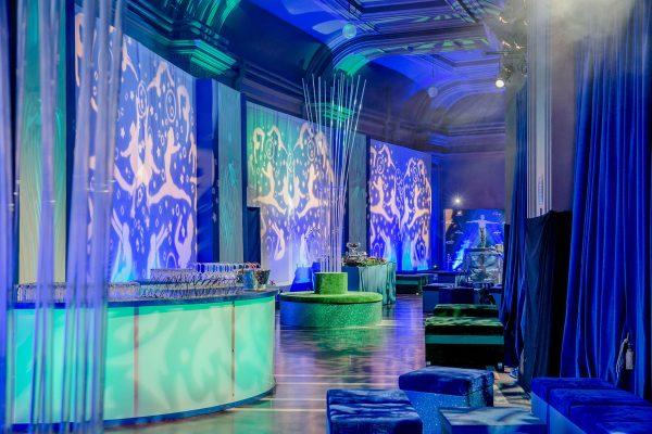 Julian Carter Design. Design and production for Cirque Du Soleil hospitality. Royal Albert hall.