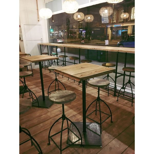 Julian Carter Design Table and counter steelwork built for Little Spinach.