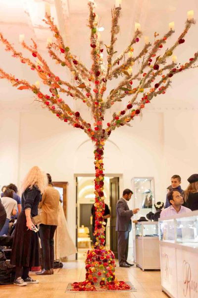 Julian Carter Design 4 metre high stylised tree built for Zita Elze at Somerset House