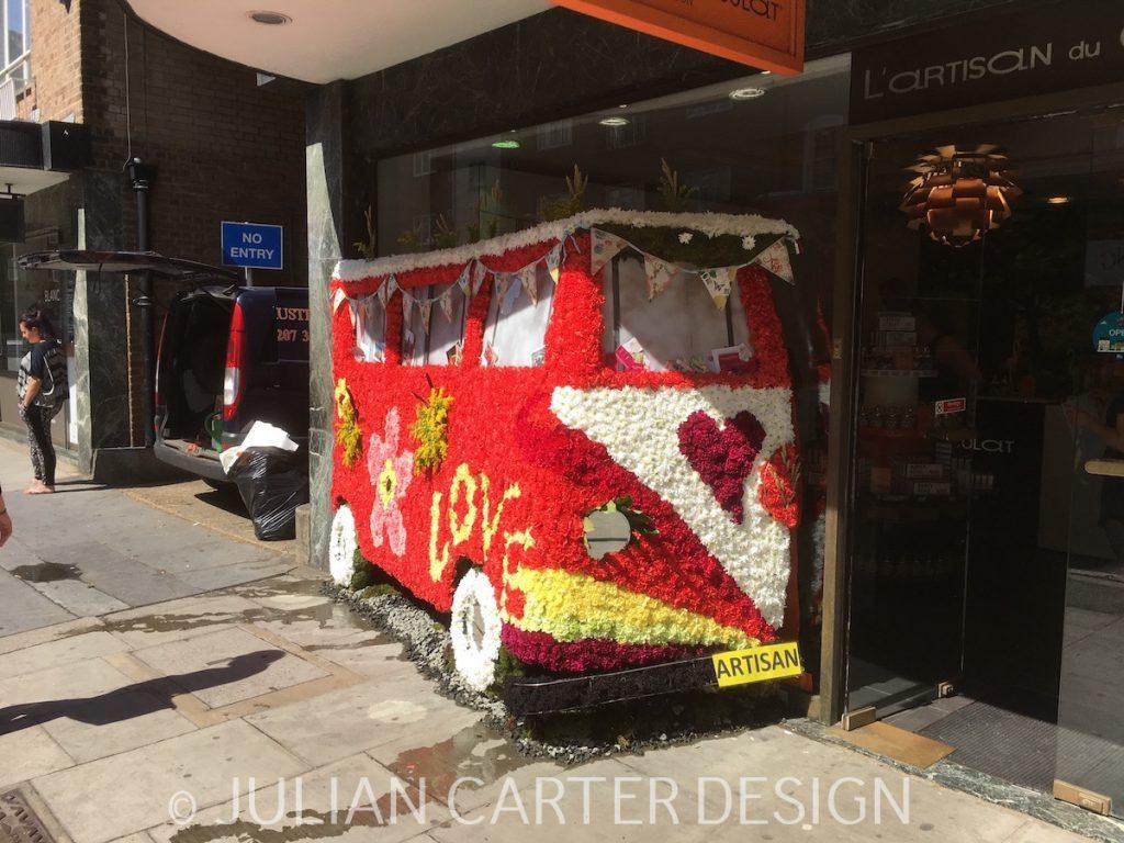 Julian Carter Design. Amanda Austin's Exquisite Summer of Love Design for L'Artisan Du Chocolat.