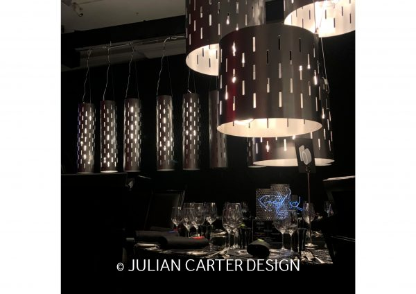JULIAN CARTER DESIGN METALWORK DESIGNS FOR WHITE PAPER EVENTS - GROSVENOR HOUSE HOTEL